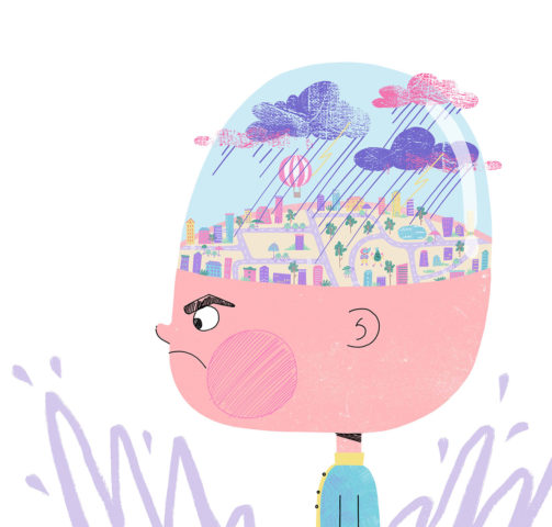 The brain of an angry boy. Xenia Voronicheva illustration